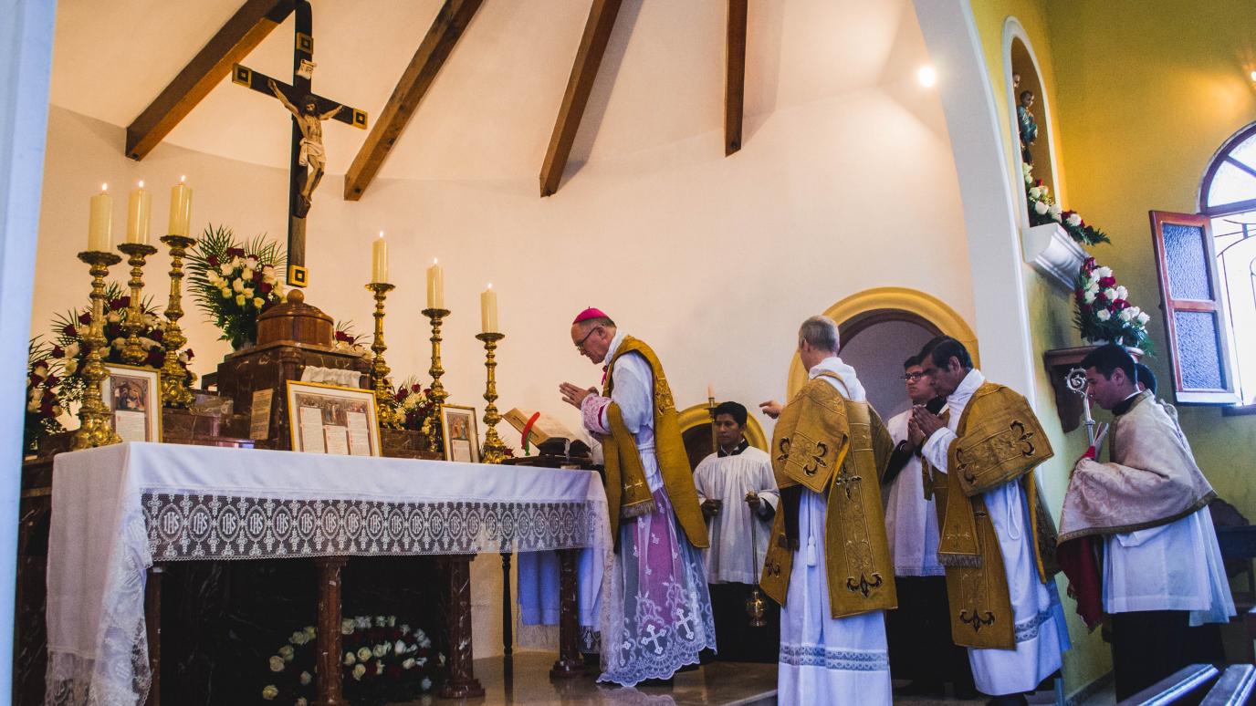 Santa Misa en el Priorato Nuestra Señora de Fátima, Guatemala